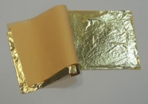 Поталь Masserini 14х14 см, 25 листов, имитаия золота, цвет 2