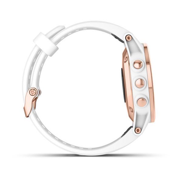 Fenix 5s Plus Sapphire розовое золото с белым ремешком