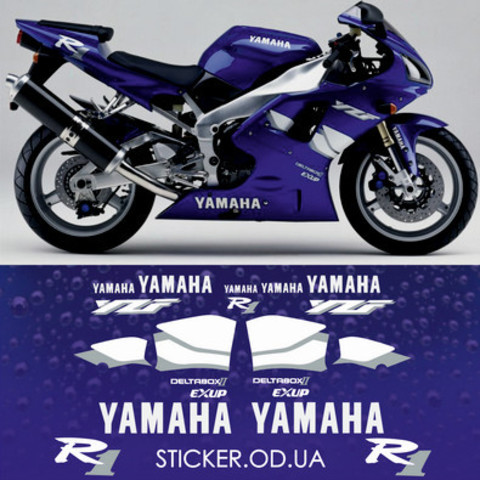 Набор виниловых наклеек на мотоцикл YAMAHA YZF-R1 1999-2000