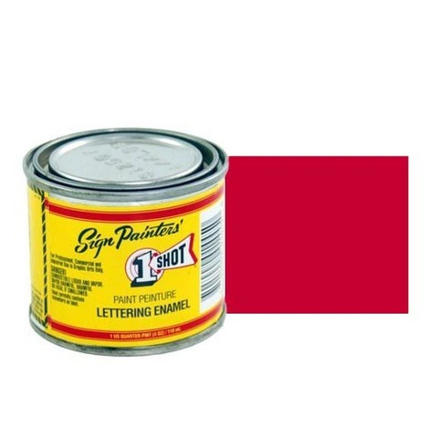 104-L Эмаль для пинстрайпинга 1 Shot Ярко-красный (Bright Red), 236 мл