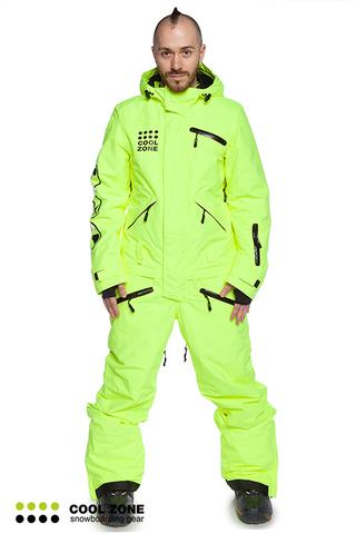 COOL ZONE ACID мужской сноубордический комбинезон салатовый