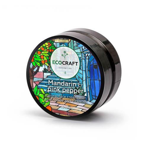 Крем для лица для чувствительной и сухой кожи Мандарин и розовый перец, EcoCraft