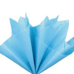 Бумага тишью синяя 76 х 50 см, 10 листов 28 г/м
