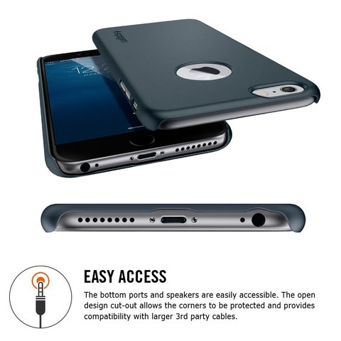 Spigen SGP Case Thin Fit A for iPhone 6S Plus / 6 Plus Metal Slate SGP10887