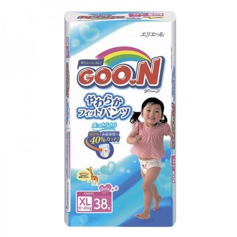 """Трусики-подгузники """"Goon"""" японские для девочек размер XL (вес 12-20кг) 38шт"""