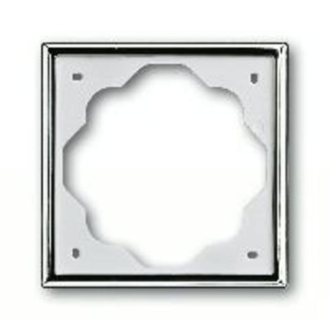 Рамка на 1 пост. Цвет Хром. ABB(АББ). Impuls(Импульс). 1754-0-4514