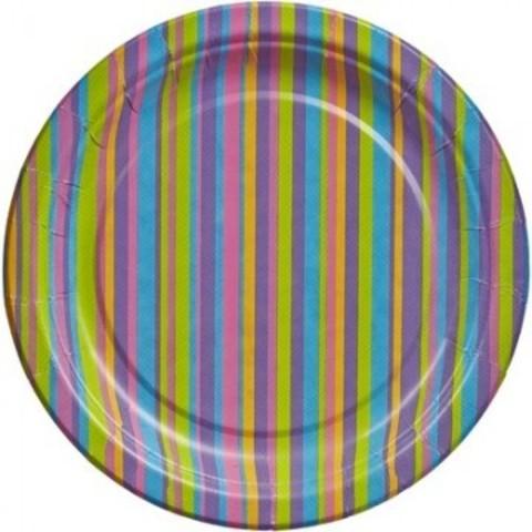 Тарелка одноразовая бум. Джайв  d 230мм, 6 шт./уп.