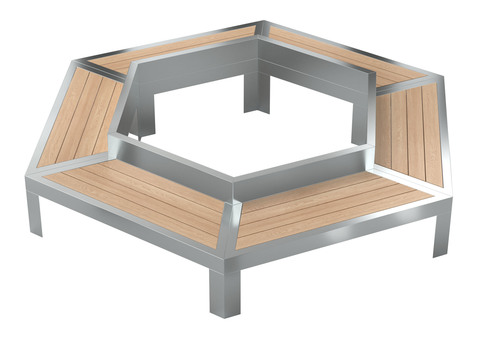 Bench GALAXY / hexagonal