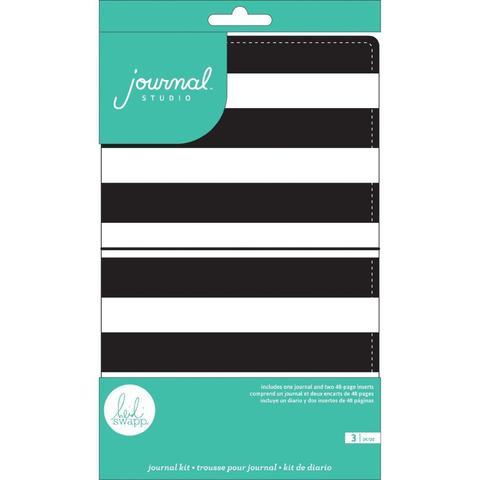 Блокнот (тревелбук) - American Crafts Journal Studio Kit  - 14х22 см -  Stripe By Heidi Swapp