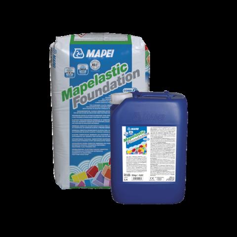 Mapei Mapelastic Foundation/Мапей Мапеластик Фаундэйшн двухкомпонентная эластичная мембрана на цементной основе для гидроизоляции бетонных поверхностей