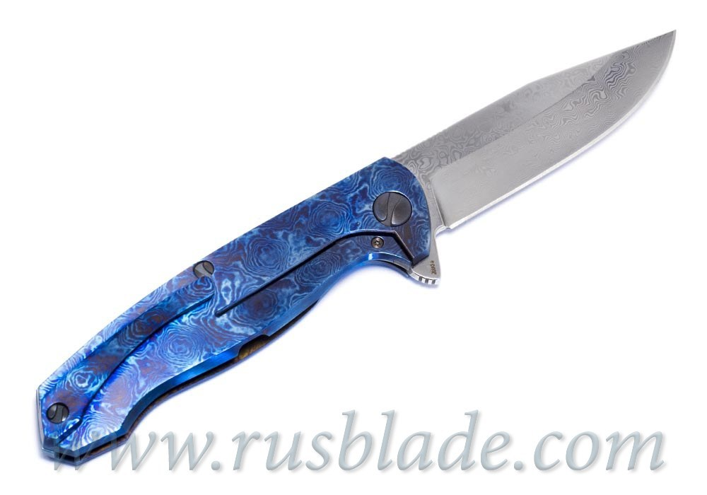 Cheburkov Custom Wolf Damascus Timascus 2