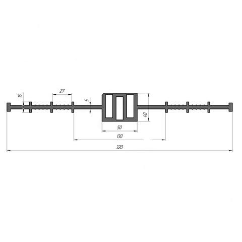 гидрошпонка Гидроконтур цд-320к50 пвх-п