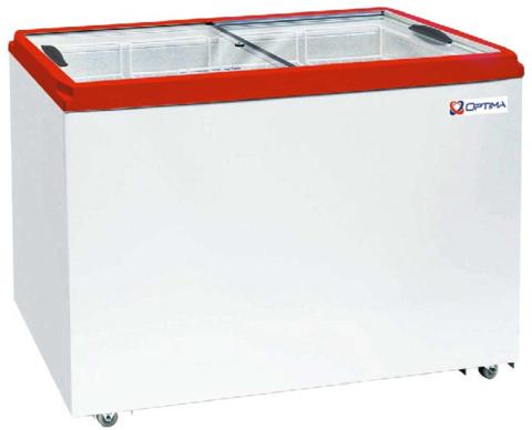 Ларь морозильный  OPTIMA 400С  ( с прямым стеклом ) (1206х632х794h, кВт.ч./сут3,4)