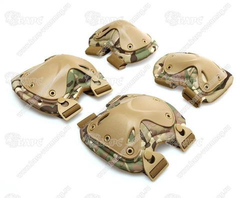 Тактические наколенники с налокотниками КМФ HATCH Tactical (Мультикам)