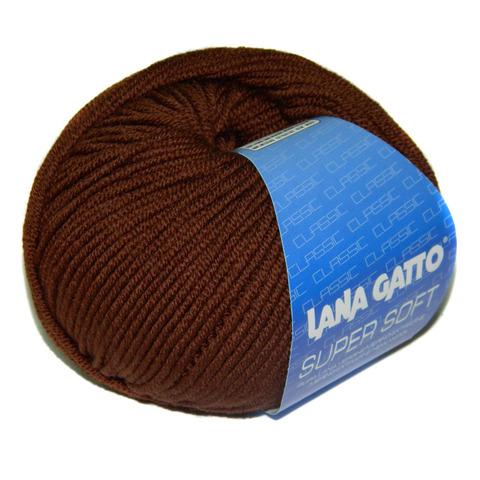 Пряжа Lana Gatto Supersoft 10040 шоколад