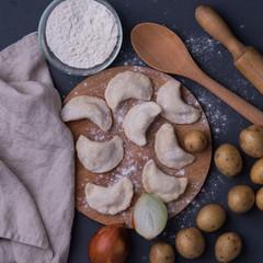 Вареники постные с картофелем и луком 500 г /тонкое тесто/