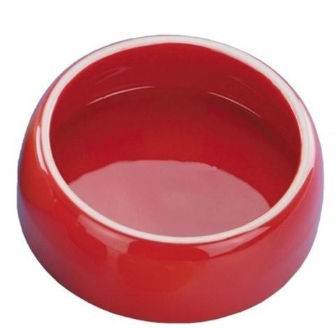 Nobby миска для животных красная керамика 125мл