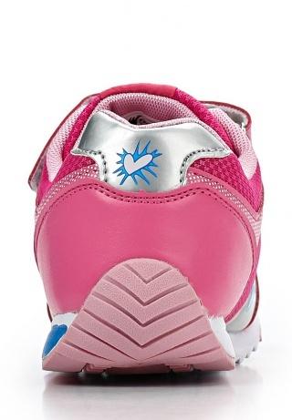 Кроссовки Винкс (Winx) на липучке и шнурках для девочек, цвет розовый, фея Блум