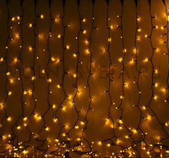 Гирлянда светодиодный занавес желтая, 2x3 м, 3W, LED-760-220V