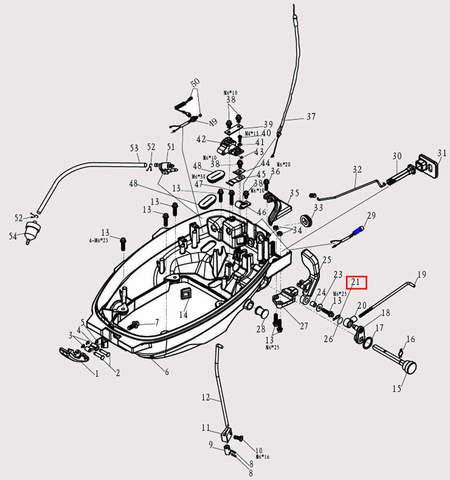 Кольцо 1.5*28 для лодочного мотора F9.8 Sea-PRO (2-21)