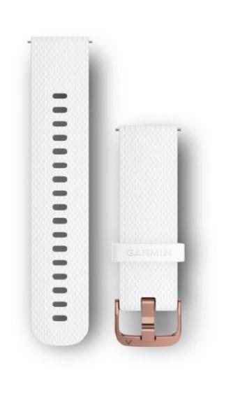 Силиконовый ремешок Garmin белого цвета