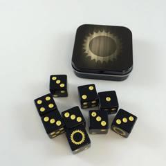 Legion Supplies - Iconic Sun 9 шестигранных кубиков в железной коробочке