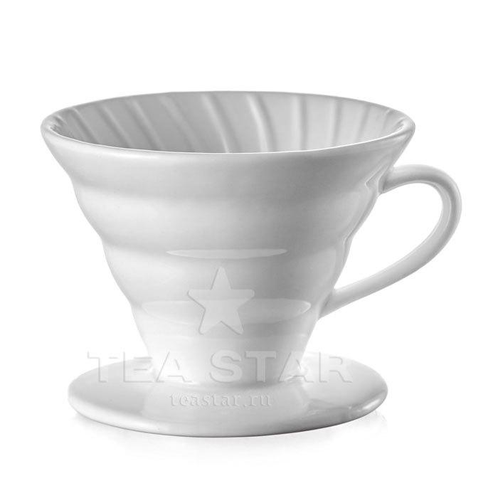 Кофейные аксессуары Воронка для приготовления кофе 02, керамическая, белая Aka_Hario_drip-02cw.jpg