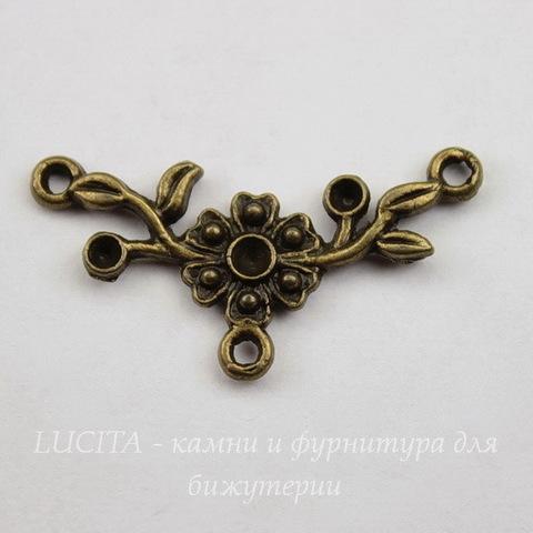 Коннектор (1-2) 31х16 мм (цвет - античная бронза)