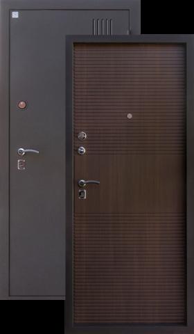 Дверь входная Алмаз Сапфир 2, 2 замка, 1,5 мм  металл, (медь антик+венге)