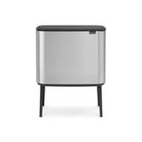 Мусорный бак Touch Bin Bo 3 х 11 л , Стальной матовый (Fingerprint Proof), артикул 316081, производитель - Brabantia