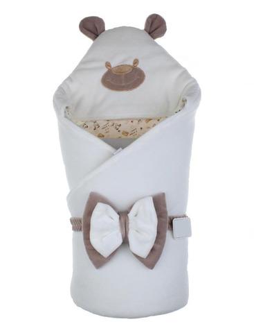 Демисезонный конверт-одеяло Little Bear молочный