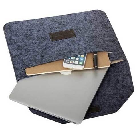 Чехол для Macbook Pro 16 - Фетровый (Темно-серый)