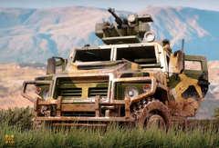 Бронеавтомобиль «ЛИГЕР» (Lemmo) - Деревянный конструктор, сборная модель, 3D пазл