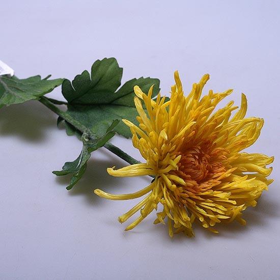 Хризантема искусственная желтая 6-285