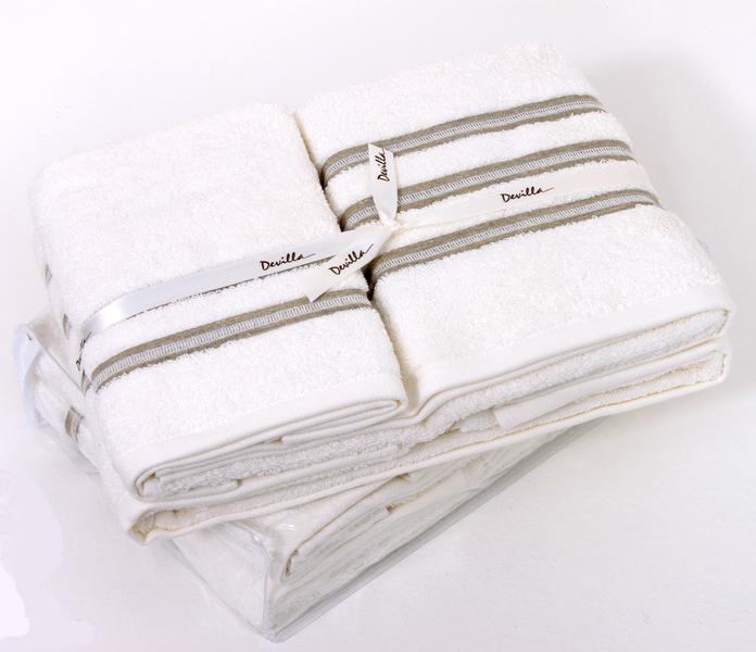 Набор полотенец 2 шт Devilla Brest Три полоски белый