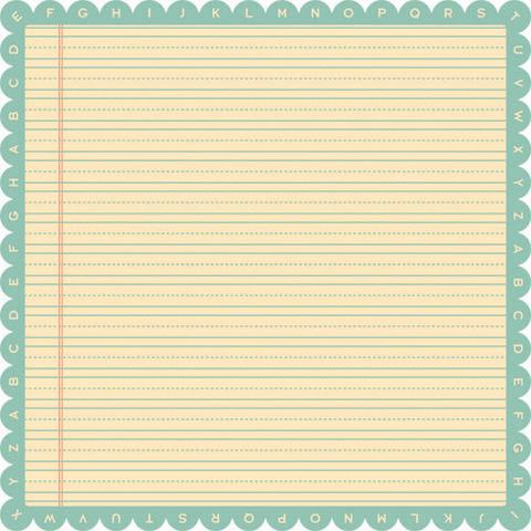 """Лист односторонней бумаги с фигурным краем Ruler из коллекции """"Schoolhouse"""""""