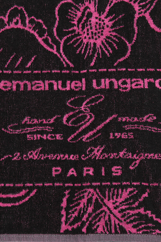 Полотенце 95х150 Emanuel Ungaro Fleur черное