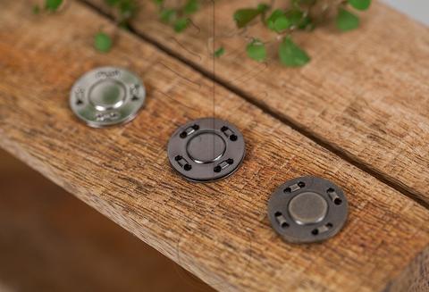 Кнопка магнитная пришивная 20 мм, 3 цвета