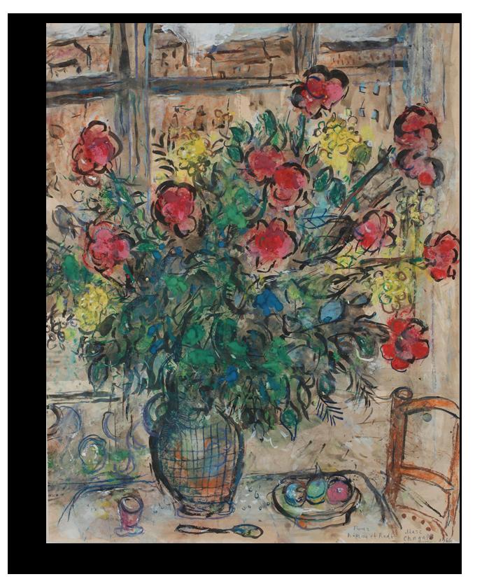 "Марк Шагал Репродукция ""Шагал - Букет на фоне окна "" Х86.png"