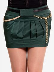 A2075-5 юбка зеленая
