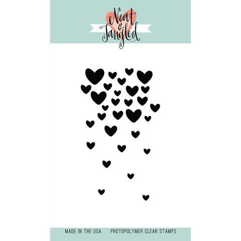 Силиконовый штамп Falling Hearts