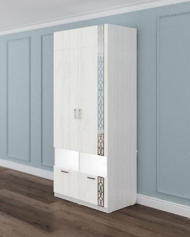 Шкаф двухдверный ЛИТАУ рамух