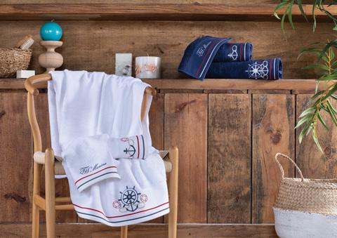Набор полотенец  NAVY 3 пр +ароматизатор  TIVOLYO HOME Турция