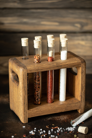 Oak Spice Holder