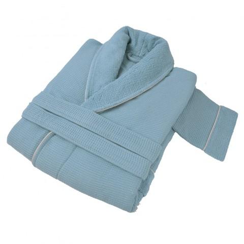 Элитный халат мужской Tosya голубой от Hamam