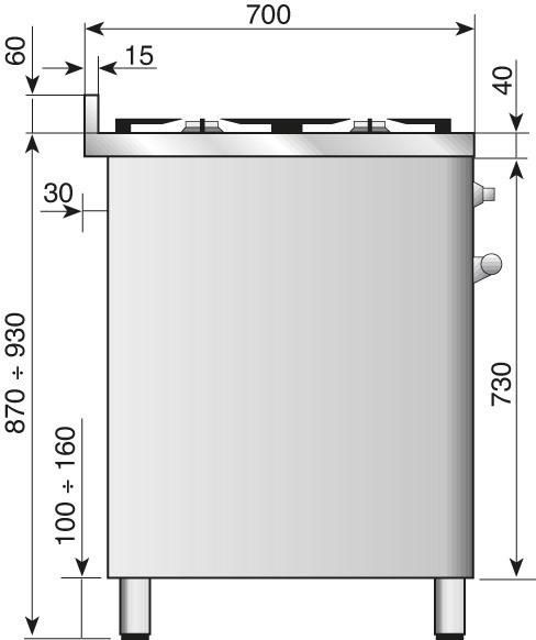 Газовая плита шириной 120 см ILVE M12FDWE3
