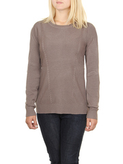 MS1747-5 кофта женская, коричневая