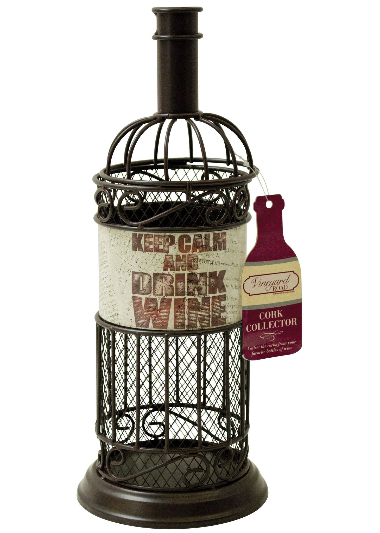Кухня Декоративная емкость для винных пробок Boston Warehouse Calm Newspaper dekorativnaya-emkost-dlya-vinnyh-probok-boston-warehouse-calm-newspaper-ssha-kitay.jpg