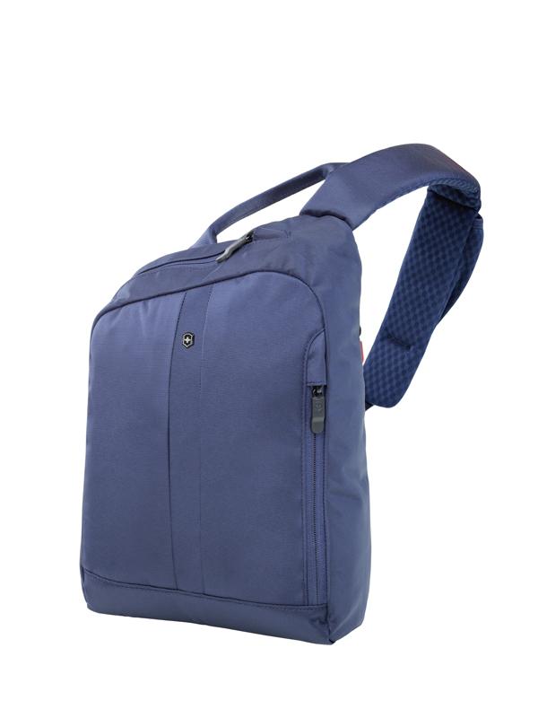 98217b81b192 Рюкзак Victorinox Gear Sling с защитой w/RFID, с одним плечевым ремнём,  синий, 24x10x34 см, 8 л