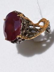 Регина (серебряное кольцо с позолотой)